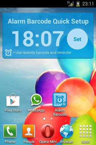 Alarm Barcode