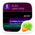GO SMS PRO PURPLE CHARM THEME icon