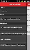 Screenshot of Bell & Gossett Mobile Catalog
