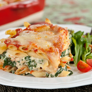 Spinach and Ricotta Lazy Lasagna.