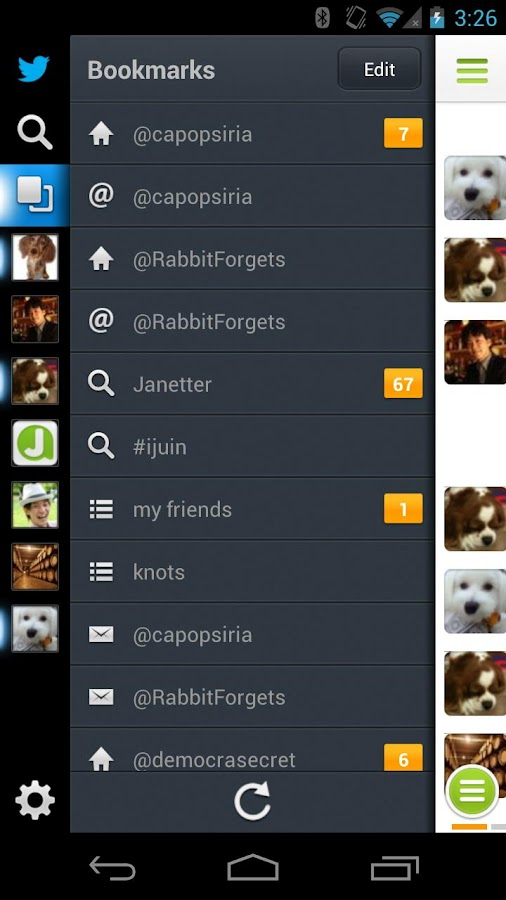 Janetter Pro for Twitter - screenshot