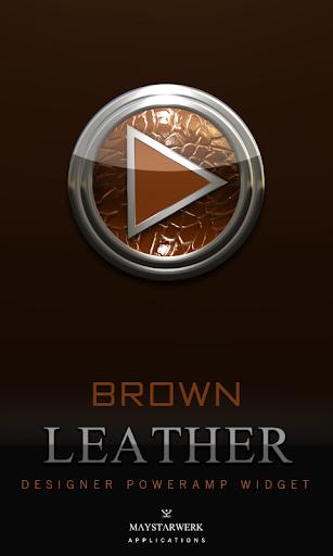 Poweramp Widget Brown Leather