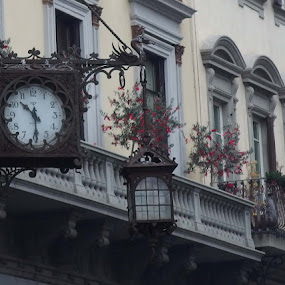 Time's flying with grace by Pipia Kanjeva - Buildings & Architecture Other Exteriors ( #clock #italy #outdoor #facade #architecture,  )
