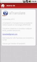 Screenshot of aTranslate
