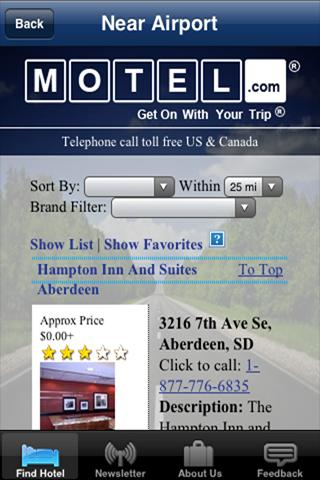 Motel.com- screenshot