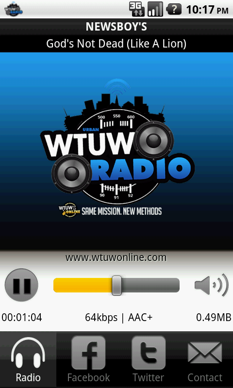 WTUW - screenshot