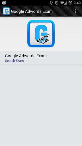 Google Adwords Sample Exams