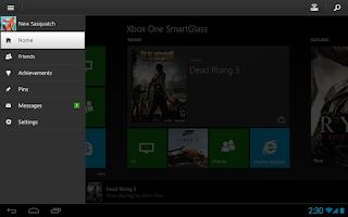 Screenshot of Xbox One SmartGlass
