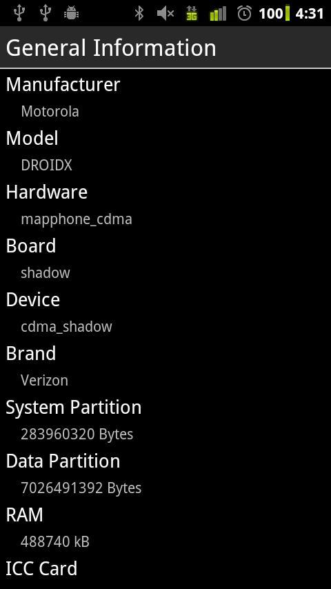 Device Info- screenshot
