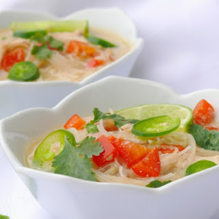 Slow Cooker Thai Chicken Noodle Soup.