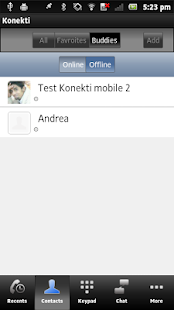 Konekti - cheap VoIP and IM- screenshot thumbnail