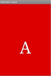 Alphabet Swipe- screenshot thumbnail