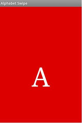 Alphabet Swipe- screenshot