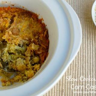 Slow Cooker Broccoli Corn Casserole.