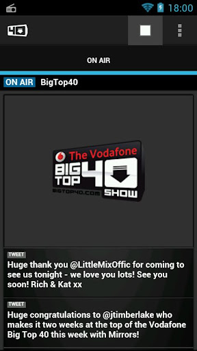 Big Top 40 Radio App