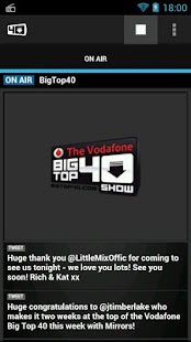 Big Top 40 Radio App - screenshot thumbnail