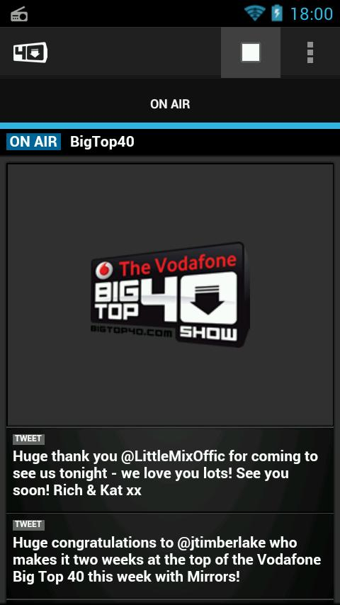 Big Top 40 Radio App - screenshot