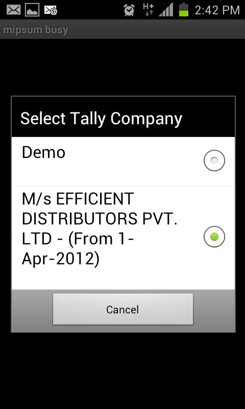 mipsum - Tally On Mobile - screenshot