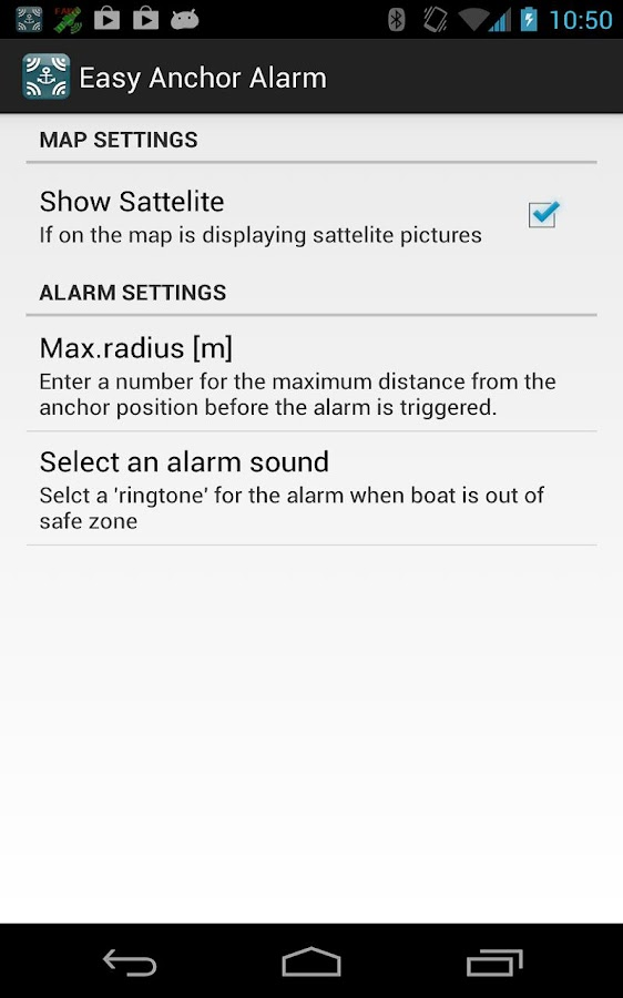 Easy Anchor Alarm - screenshot