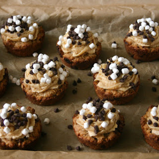 Brown Butter Chocolate Chip Oatmeal S'mores Cookie Cups.