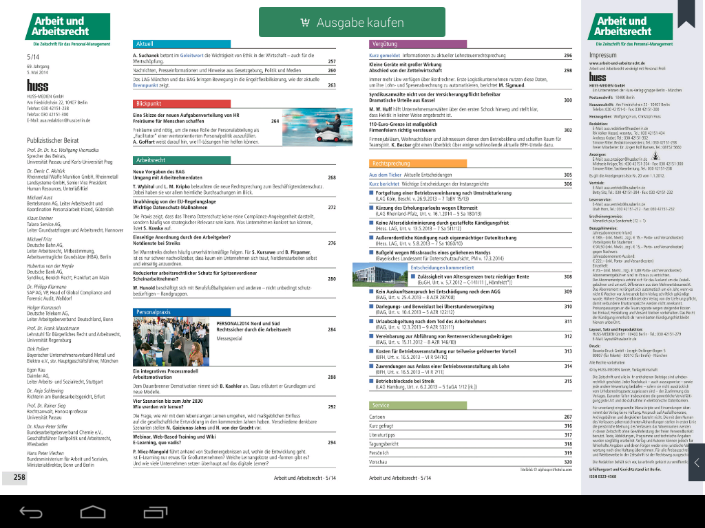 AuA Magazin- screenshot