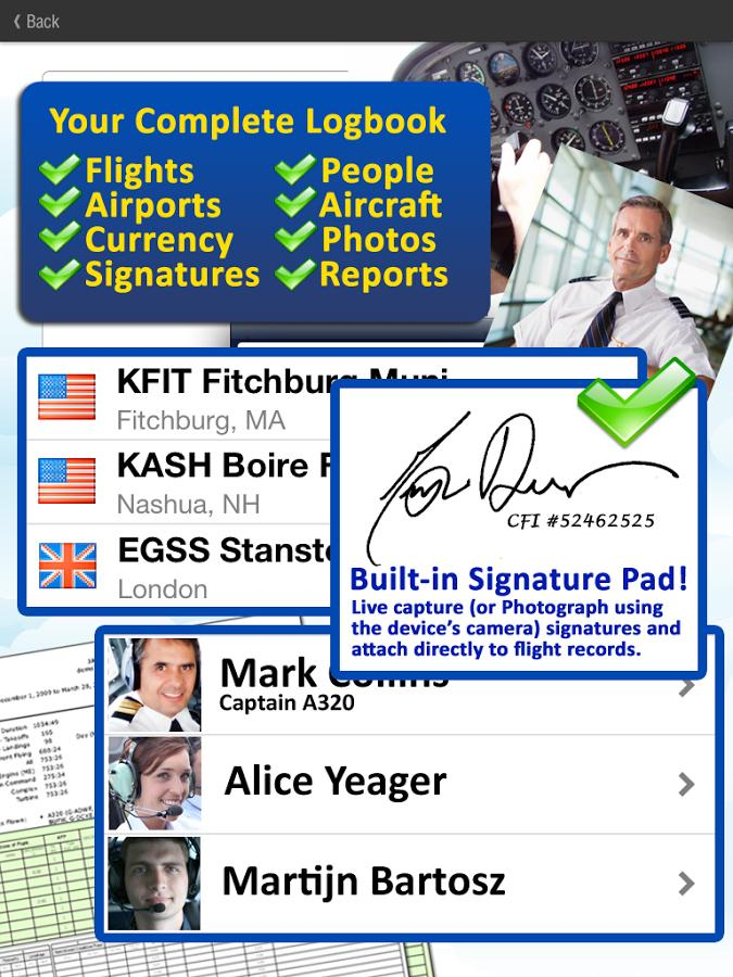 Safelog Pilot Logbook- screenshot