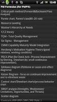 Screenshot of PM Formulas (for PMP® exam)pro