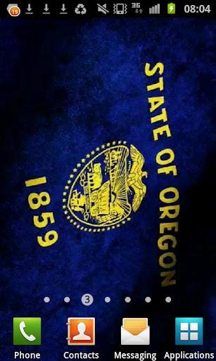 Oregon Flag Live Wallpaper