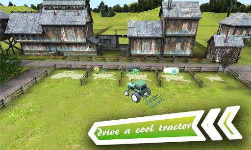 3D Farm Driver Tractor Parking