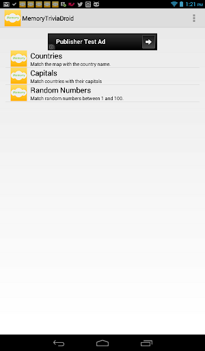【免費教育App】MemoryTrivia-APP點子