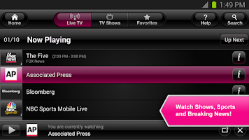 Screenshot of T-Mobile TV