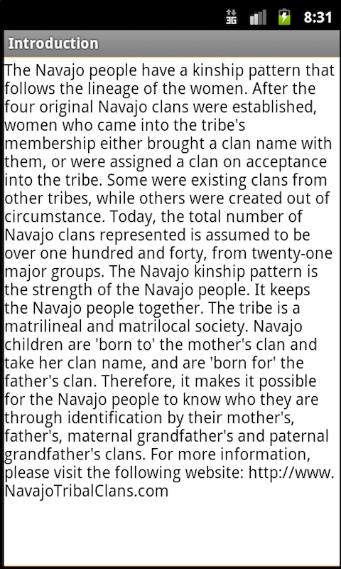 Navajo Clans: Native Language- screenshot