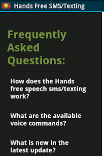 Hands free speech sms/texting - screenshot thumbnail