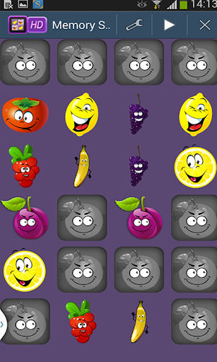 Memory fruits for Kids HD
