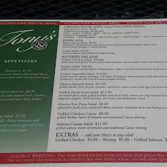 Huge GF menu (front)