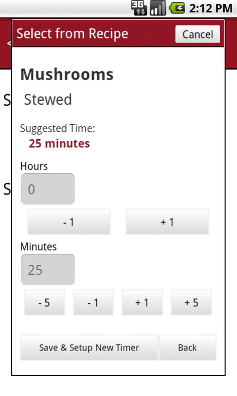 Gourmet Timer FREE- screenshot