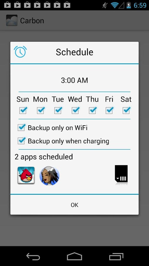 Helium - App Sync and Backup - screenshot
