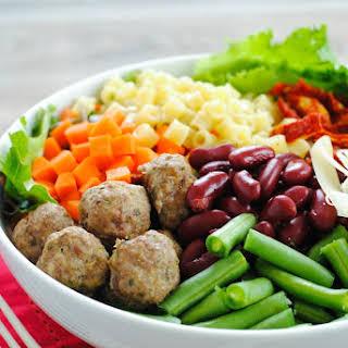 Mini Meatball Minestrone Salad.