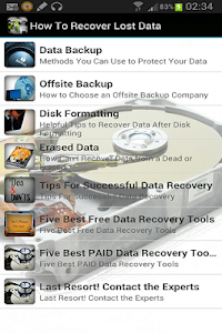 How To Recover Lost Data screenshot 1