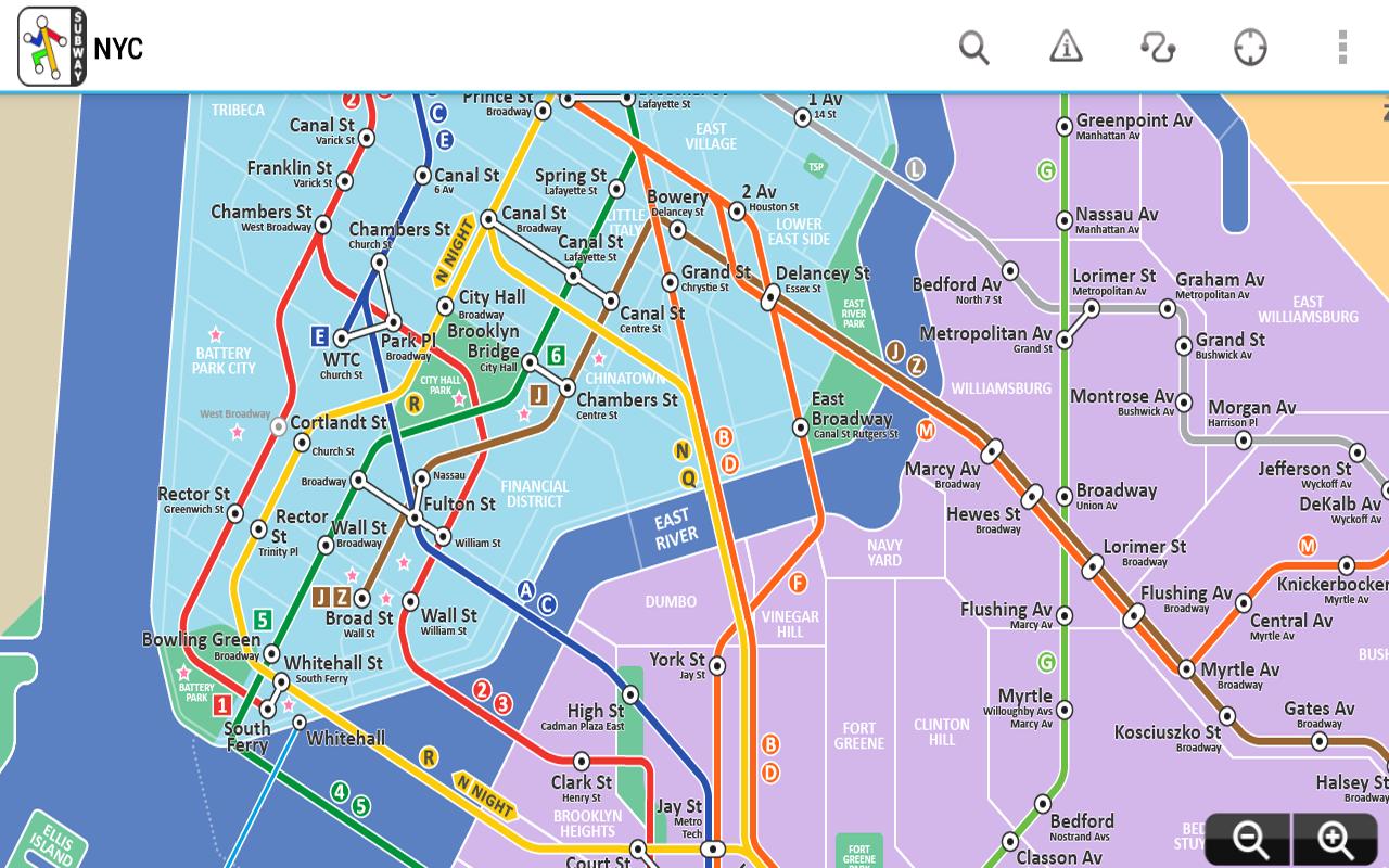 New York Subway Map App Android.Top 10 Punto Medio Noticias Trip Planner New York Metro