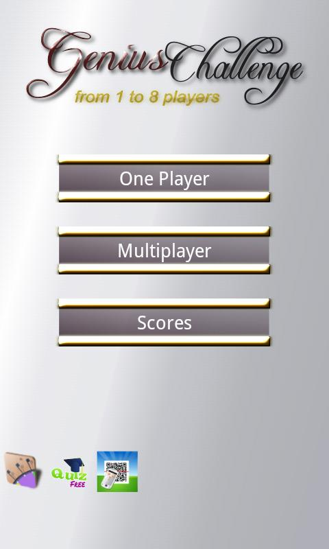 Genius Trivia 1 to 8 player- screenshot