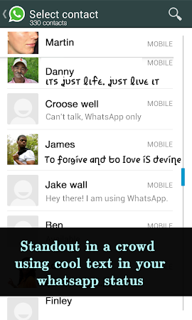 Cool Fonts for Whatsapp & SMS 2.0 screenshot 227824