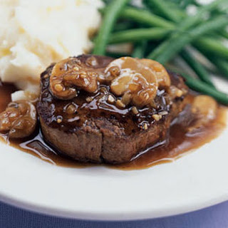 Filet Mignon with Sherry-Mushroom Sauce.