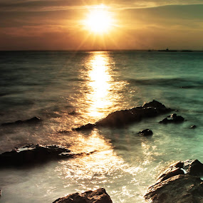 Sunset at Borneo by Lee Miko - Landscapes Sunsets & Sunrises