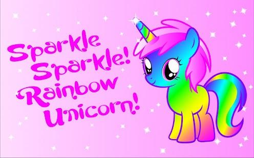 Sparkle Rainbow Unicorn LW