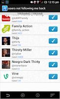 Screenshot of Follow Tool for Twitter