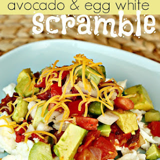 Avocado and Egg White Scramble.
