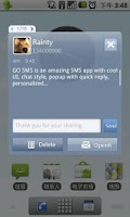 Screenshot of GO SMS Pro Grey Theme