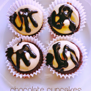 Chocolate Cupcakes with Peanut Butter frosting.
