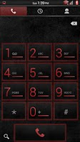Screenshot of Stone Grunge Red CM11 Theme